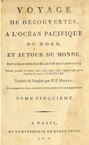 French - Voyage de Decouvertes, a l'Ocean Pacifique du Nord Vol. 5