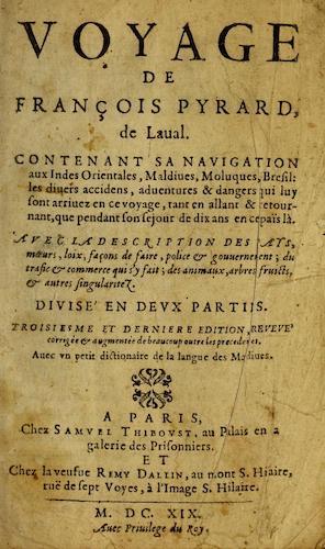 French - Voyage de Francois Pyrard, de Laual