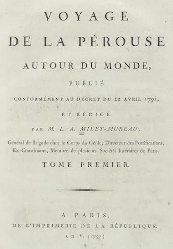 French - Voyage de La Perouse Autour du Monde Vol. 1