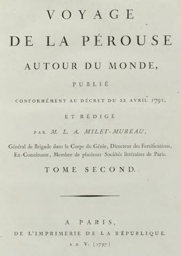 French - Voyage de La Perouse Autour du Monde Vol. 2