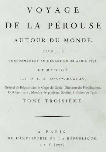 Natural History - Voyage de La Perouse Autour du Monde Vol. 3