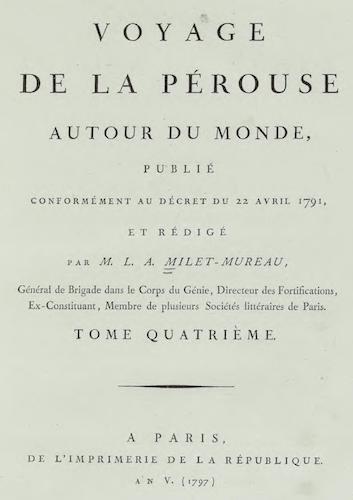 French - Voyage de La Perouse Autour du Monde Vol. 4