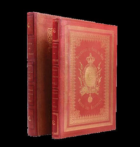 Voyage des Souverains du Canal du Suez - Book Display (1870)