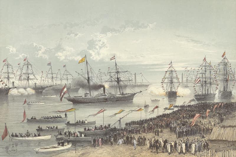 Voyage des Souverains du Canal du Suez - Arrivee de S.M. L'Empereur D'Autriche a Port Said (1870)