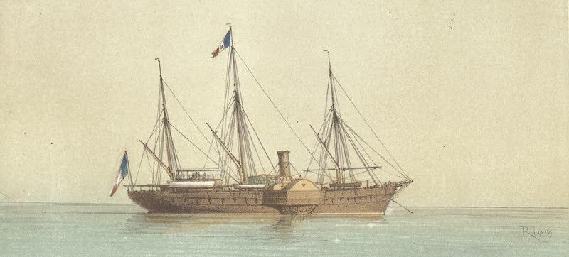 Voyage des Souverains du Canal du Suez - Entree a Port Said du Yacht Imperial L'Aigle and L'Aigle en Rade II (1870)