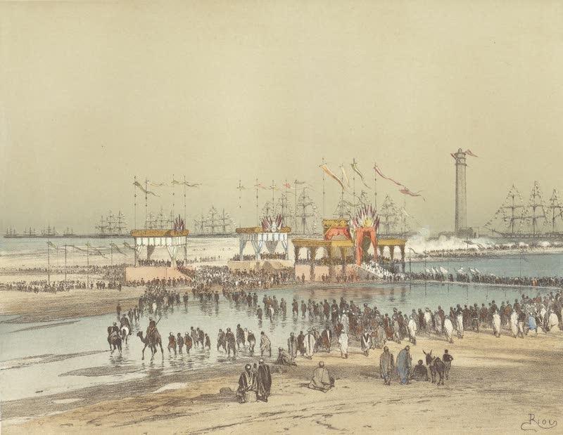 Voyage des Souverains du Canal du Suez - Ceremonie Religieuse sur la Plage de Port Said (1870)