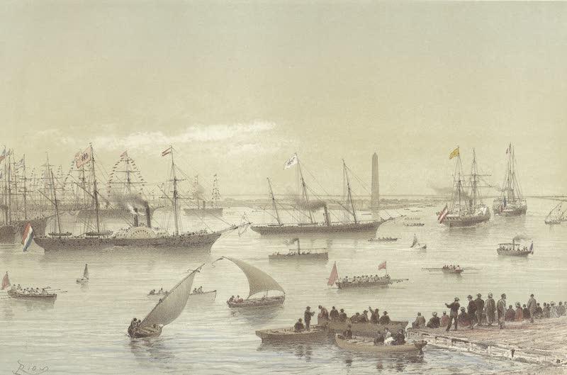 Voyage des Souverains du Canal du Suez - Entree des Souverains dans le Canal de Suez a Port Said (1870)