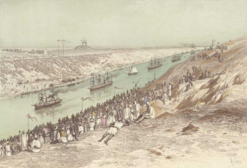 Voyage des Souverains du Canal du Suez - Passage a el Guisr (1870)