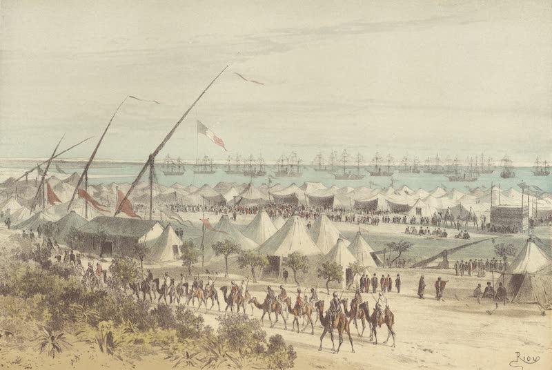 Voyage des Souverains du Canal du Suez - Campemenet a Ismailia (1870)