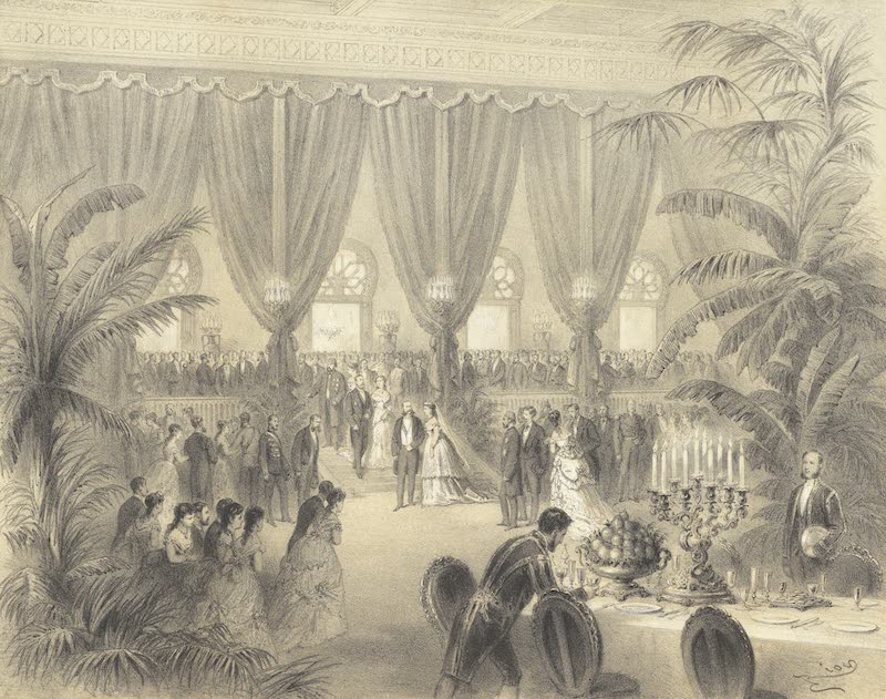 Voyage des Souverains du Canal du Suez - Bal au Palais Dismailia (1870)
