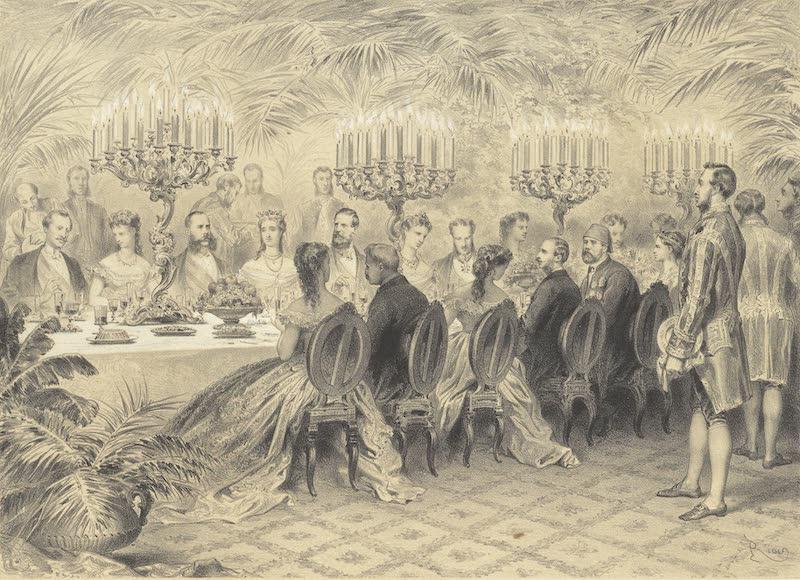 Voyage des Souverains du Canal du Suez - Le Souper des Souverains a Ismailia (1870)