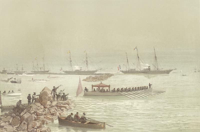 Voyage des Souverains du Canal du Suez - Arrivee des Souverains a Suez (1870)