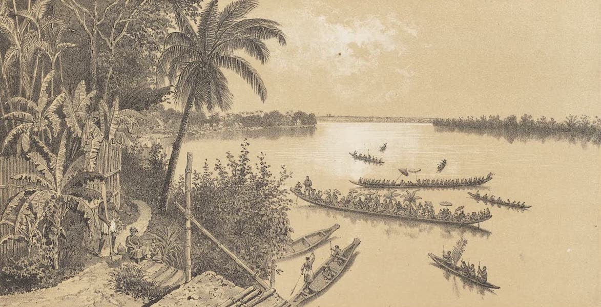 Voyage d'Exploration en Indo-Chine [Atlas-Vol. 1] - Vue de Stung Treng et de l'Embouchure du se Cong (1873)