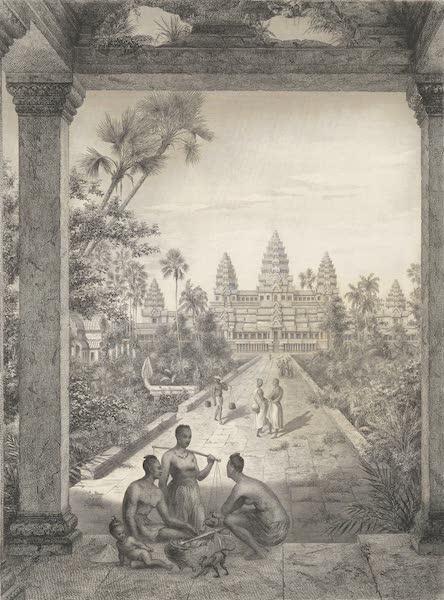Voyage d'Exploration en Indo-Chine [Atlas-Vol. 1] - Facade Principale d'Angor Wat - Vue du Peristyl de la Premiere Enceinte (1873)
