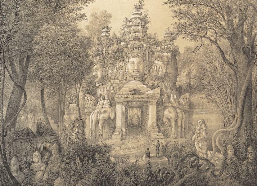 Voyage d'Exploration en Indo-Chine [Atlas-Vol. 1] - Une Porte d'Angcor Thom (1873)