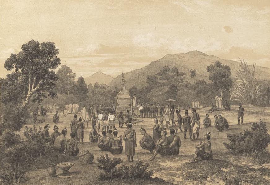 Voyage d'Exploration en Indo-Chine [Atlas-Vol. 1] - Cremation d'un Riche Laotien (1873)