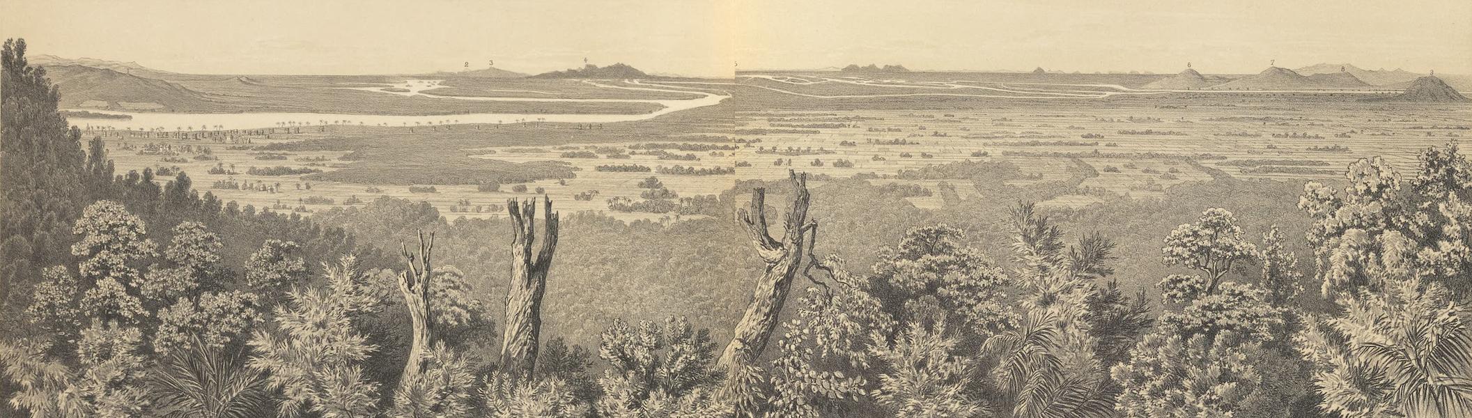 Voyage d'Exploration en Indo-Chine [Atlas-Vol. 1] - Panorama du Groupe d'Iles de Khong (Pris du Sommet de Phou Hin Khong) (1873)