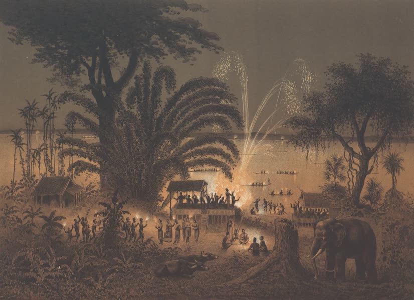 Voyage d'Exploration en Indo-Chine [Atlas-Vol. 1] - Fetes de Bassac : Illumination du Fleuve (1873)