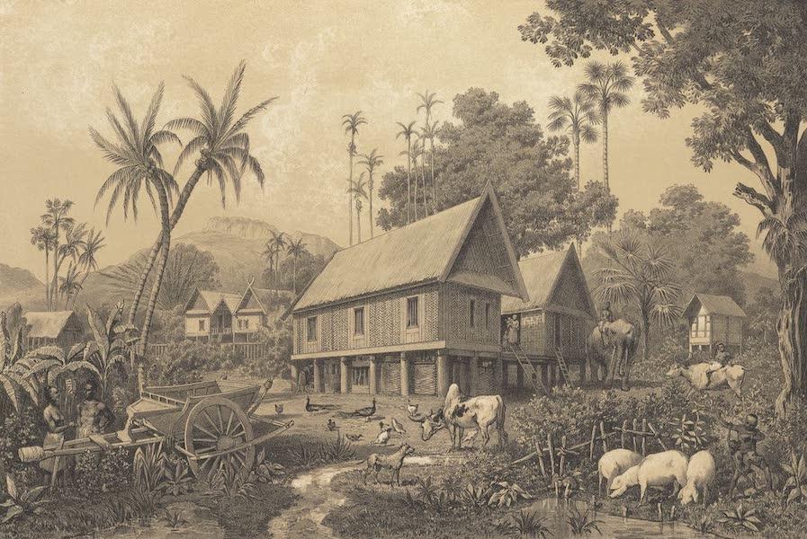 Voyage d'Exploration en Indo-Chine [Atlas-Vol. 1] - Habitation Laotienne (1873)