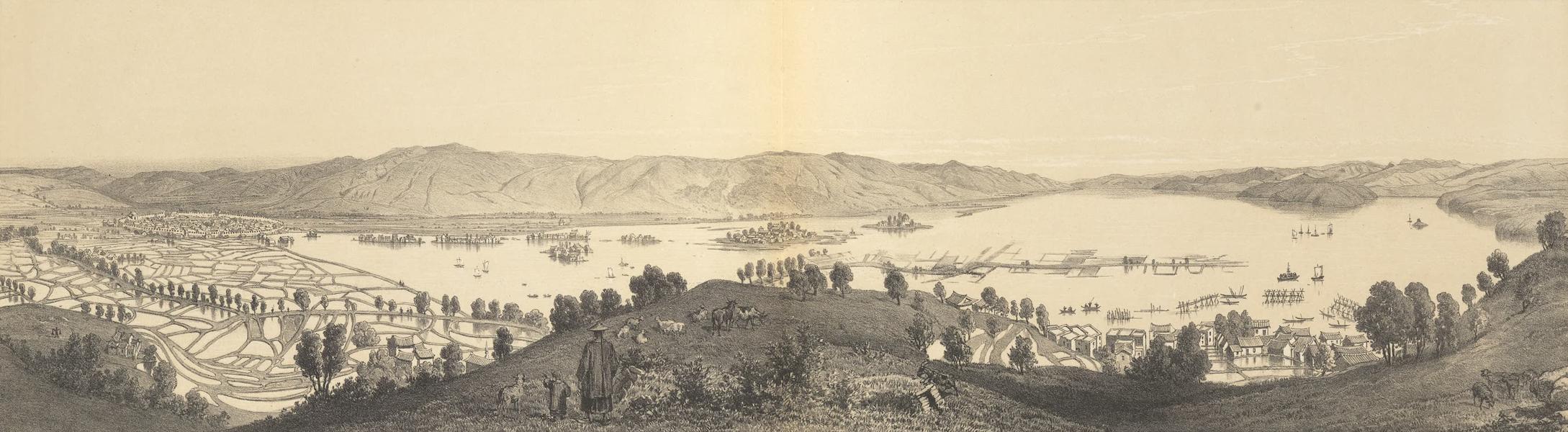 Voyage d'Exploration en Indo-Chine [Atlas-Vol. 1] - Lac et Ville de Che-Pin (1873)