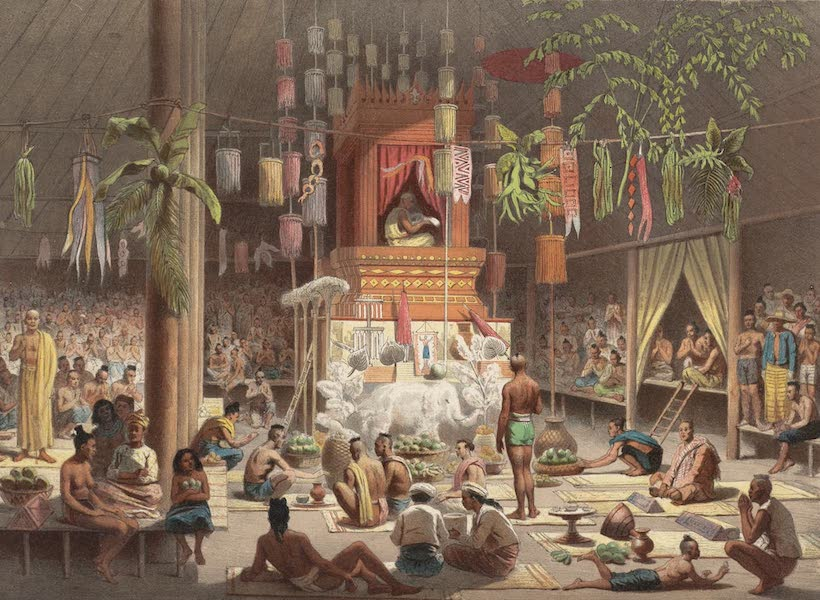 Voyage d'Exploration en Indo-Chine [Atlas-Vol. 1] - Fete dans une Pagode de Nong Kay (1873)