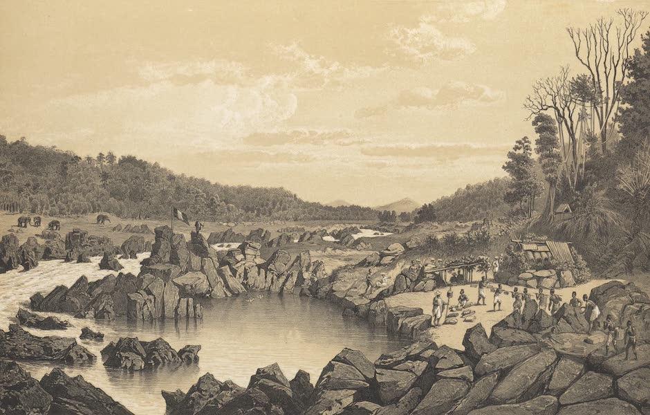 Voyage d'Exploration en Indo-Chine [Atlas-Vol. 1] - Campement dans le Lit du Mekong pres d'un Rapide (Keng Chan) (1873)