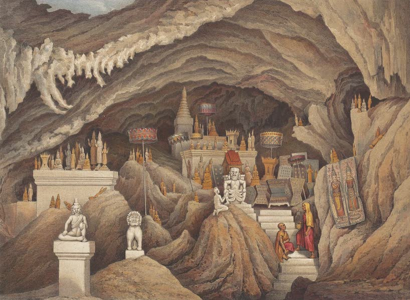 Voyage d'Exploration en Indo-Chine [Atlas-Vol. 1] - Intérieur de la Grotte du Nam Hou (1873)