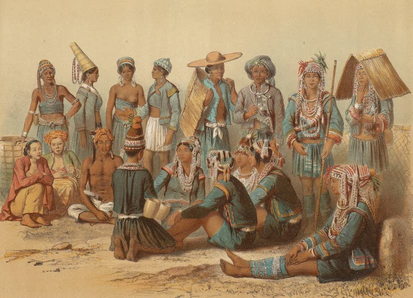 Voyage d'Exploration en Indo-Chine [Atlas-Vol. 1] - Populations Mixtes des Royaumes de Xieng Tong et de Xieng Hong (1873)