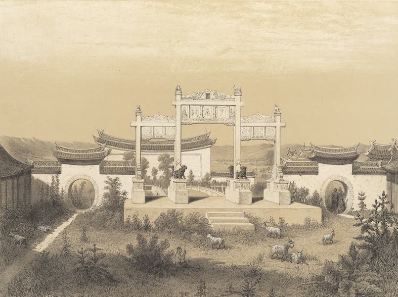 Voyage d'Exploration en Indo-Chine [Atlas-Vol. 1] - Portique de la Pagode de Se-Mao (1873)