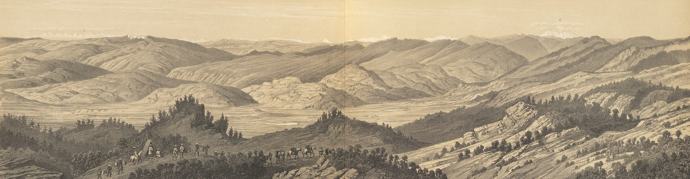 Panorama Pris Entre Houey-Li Tcheou et Che-Lang-Ko