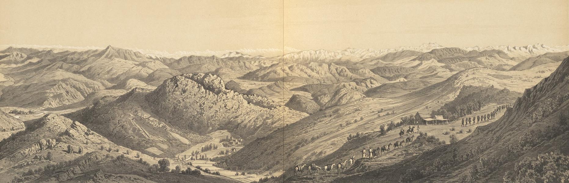 Voyage d'Exploration en Indo-Chine [Atlas-Vol. 1] - Panorama Pris Entre Mekong Kou et Houey-Ly Tcheaou (1873)