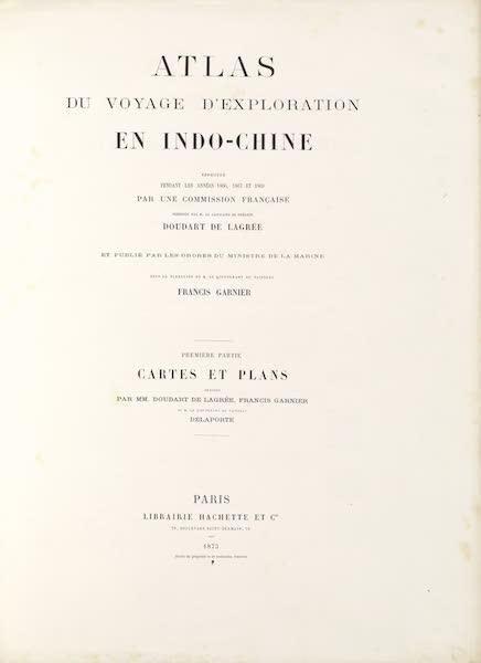 Voyage d'Exploration en Indo-Chine [Atlas-Vol. 2] - Title Page (1873)