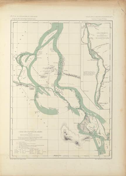 Voyage d'Exploration en Indo-Chine [Atlas-Vol. 2] - Carte Itineraire No. 1 - Carte des Rapides de Khong (1873)