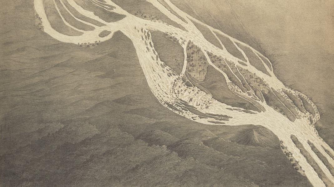 Voyage d'Exploration en Indo-Chine [Atlas-Vol. 2] - Plan a Vol d'Oiseau des Cataractes de Khon (1873)