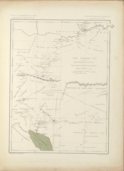 Voyage d'Exploration en Indo-Chine [Atlas-Vol. 2] - Carte Itineraire No. 3 (1873)