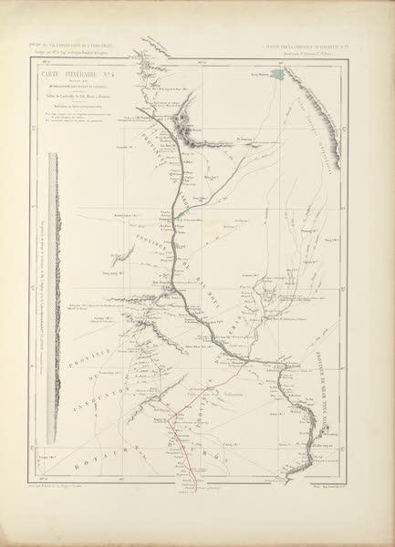 Voyage d'Exploration en Indo-Chine [Atlas-Vol. 2] - Carte Itineraire No. 4 (1873)