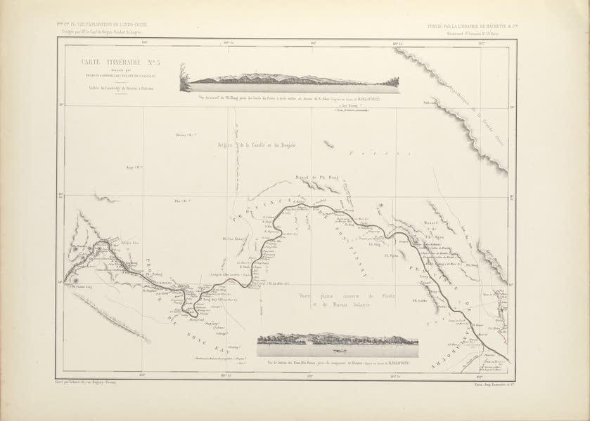 Voyage d'Exploration en Indo-Chine [Atlas-Vol. 2] - Carte Itineraire No. 5 (1873)