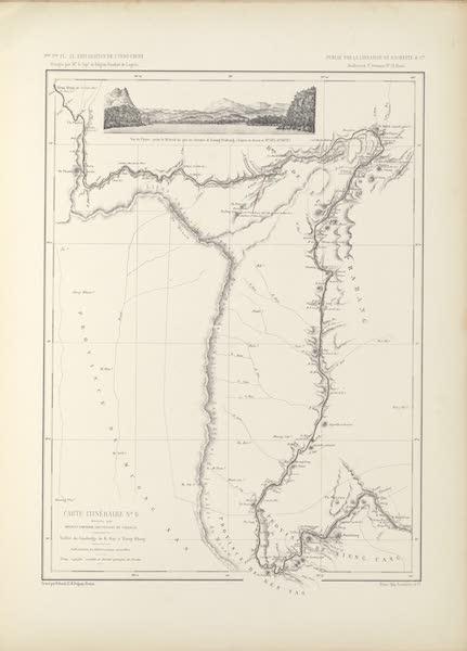 Voyage d'Exploration en Indo-Chine [Atlas-Vol. 2] - Carte Itineraire No. 6 (1873)