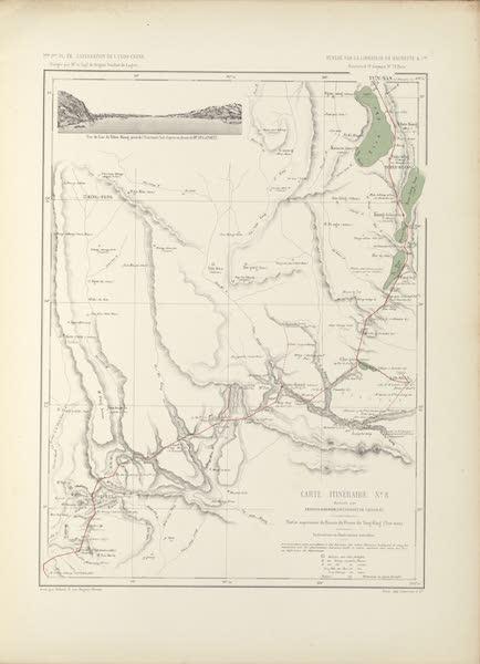 Voyage d'Exploration en Indo-Chine [Atlas-Vol. 2] - Carte Itineraire No. 8 (1873)