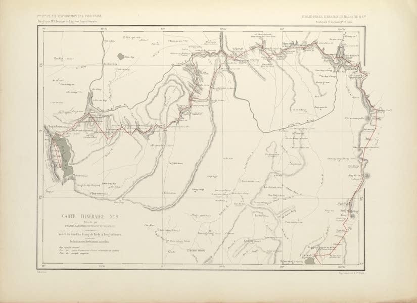 Voyage d'Exploration en Indo-Chine [Atlas-Vol. 2] - Carte Itineraire No. 9 (1873)