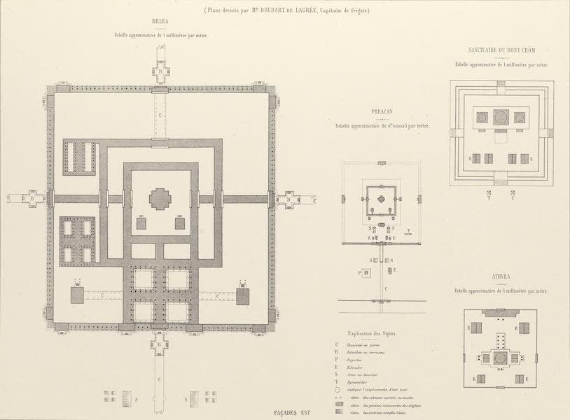 Voyage d'Exploration en Indo-Chine [Atlas-Vol. 2] - Monuments Khmers - Environs d'Angcor (1873)