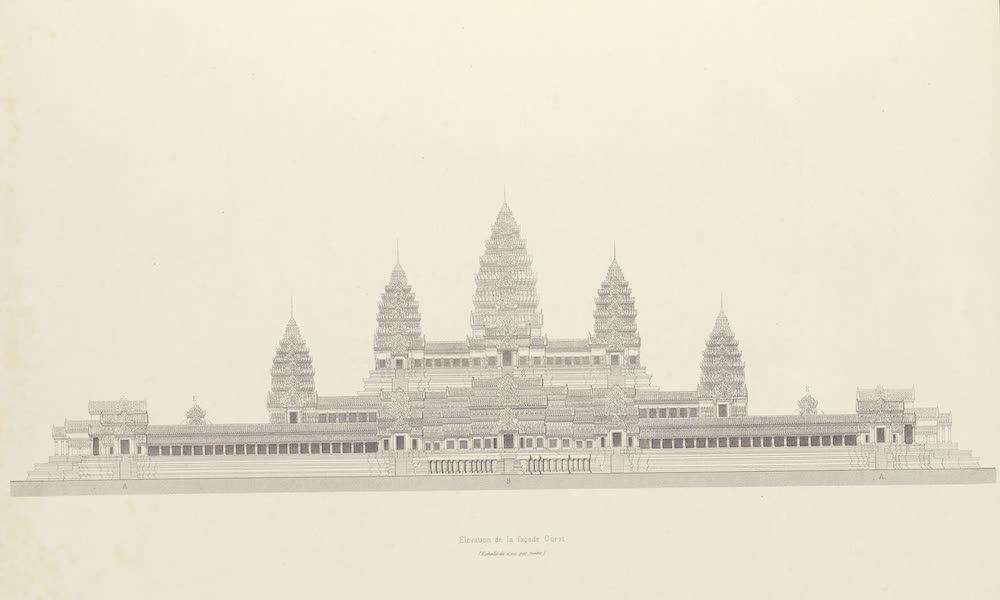 Voyage d'Exploration en Indo-Chine [Atlas-Vol. 2] - Monuments Khmers - Angcor Wat - Elevation de la Facade Quest (1873)