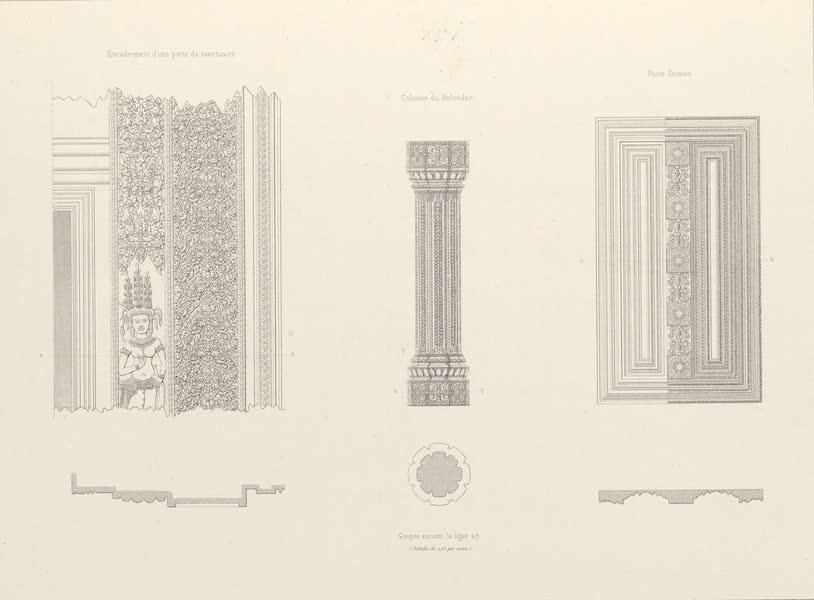 Voyage d'Exploration en Indo-Chine [Atlas-Vol. 2] - Monuments Khmers - Angcor Wat Details [II] (1873)