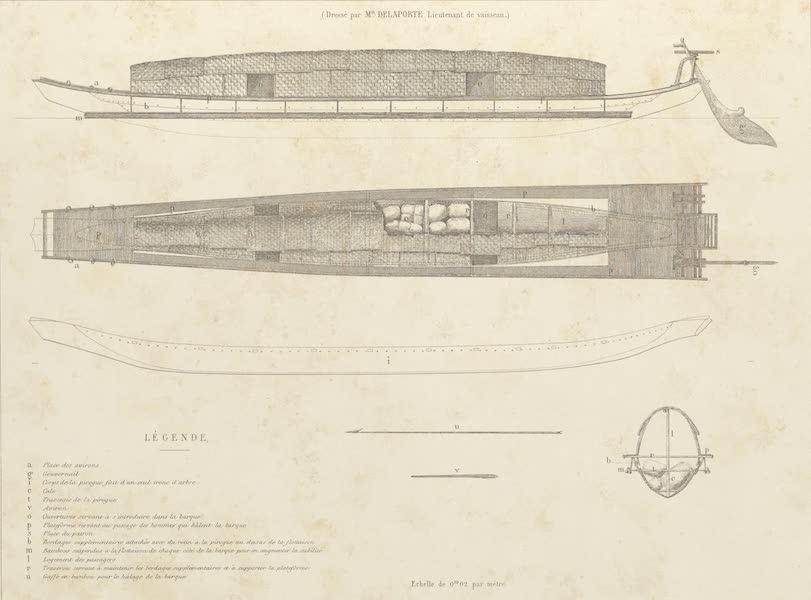 Voyage d'Exploration en Indo-Chine [Atlas-Vol. 2] - Laos - Plan d'une Pirogue (1873)
