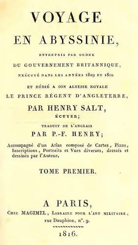 Biodiversity Heritage Library - Voyage en Abyssinie Vol. 1