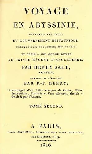 French - Voyage en Abyssinie Vol. 2