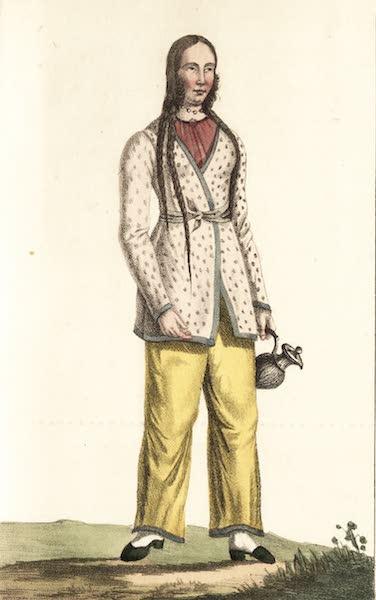 Voyage en Perse Vol. 1 - Dame persane en Arkalai sans schal (1825)