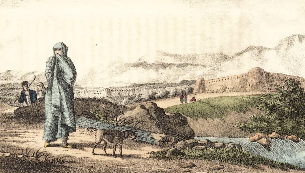 Voyage en Perse Vol. 1 - Vue interieure d'un Caravanserai de ville (1825)