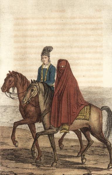 Voyage en Perse Vol. 1 - Femme du Roi voyageant a cheval (1825)