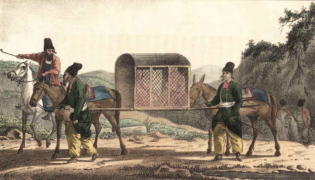 Voyage en Perse Vol. 1 - Femmes du Roi voyageant en Caktirevan (1825)